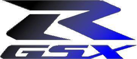 Black to Blue fade GSXR Decal / Sticker 1