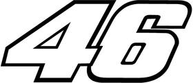 46 Valentino Rossi Decal / Sticker a