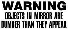 Objects in Mirror are Dumber Decal / Sticker 04