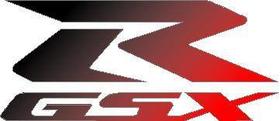 Suzuki GSXR Black to Red fade Decal / Sticker