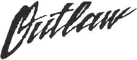 Outlaw Lettering Decal / Sticker