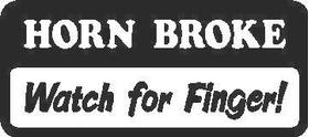 Horn Broke Decal / Sticker