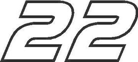 22 Race Number AF Pespi Font Decal / Sticker