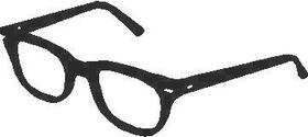 Glasses Decal / Sticker