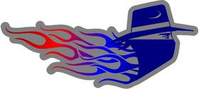 Flaming Bandit  Decal / Sticker 03