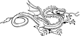 Dragon Mascot Decal / Sticker