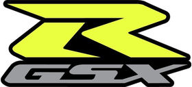 Black, Yellow and Silver GSXR Decal / Sticker