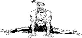 Gymnastics Braves / Indians / Chiefs Mascot Decal / Sticker