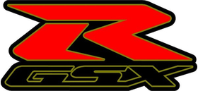 Black, Red and Gold GSXR Decal / Sticker