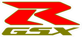 White, Red and Gold GSXR Decal / Sticker