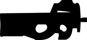 P90 Gun Decal / Sticke