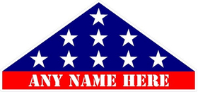 American Burial Flag Custom Decal / Sticker 45