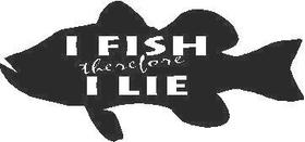 Fish Lie Decal / Sticker