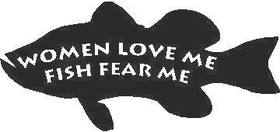 Fish Fear Me Decal / Sticker