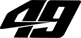 49 Race Number Decal / Sticker d
