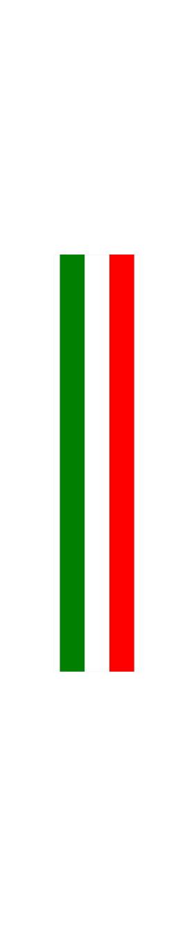 z 12 Inch Italian Flag Single Racing Stripe Decal / Sticker 02