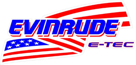Evinrude E-TEC American Flag Decal / Sticker 09