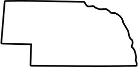 Nebraska Decal / Sticker 02