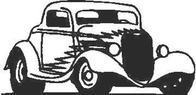 Hot Rod outline Decal / Sticker 01