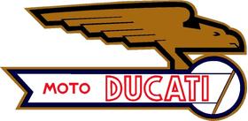 Moto Ducati Decal / Sticker 11