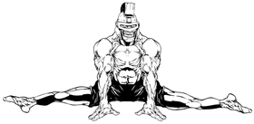 Trojans Gymnastics Mascot Decal / Sticker