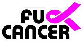Fuck Cancer Decal / Sticker 08