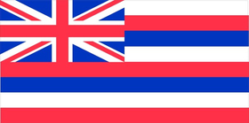 Hawaii State Flag Decal / Sticker 03