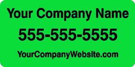 Green Custom Car Door Magnet - DESIGN ONLINE