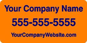 Orange Custom Car Door Magnet - DESIGN ONLINE