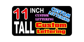 z2 Custom Lettering 11 Inch Tall Decal / Sticker