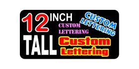 z2 Custom Lettering 12 Inch Tall Decal / Sticker