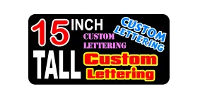 z2 Custom Lettering 15 Inch Tall Decal / Sticker