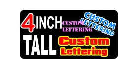 z191 Custom Lettering 4 Inch Tall Decal / Sticker