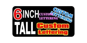 z193 Custom Lettering 6 Inch Tall Decal / Sticker