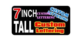 z194 Custom Lettering 7 Inch Tall Decal / Sticker
