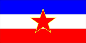 Yugoslavia Flag Decal / Sticker