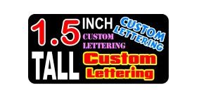 z15 Custom Lettering 1.5 Inch Tall Decal / Sticker