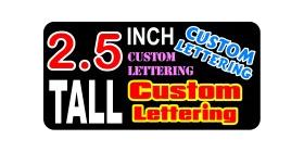 z17 Custom Lettering 2.5 Inch Tall  Decal / Sticker
