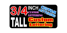 z13 Custom Lettering Three Quarter Inch Tall Decal / Sticker