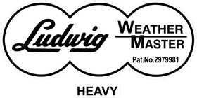 Ludwig Weather Master Heavy Decal / Sticker 11