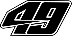 49 Race Number Decal / Sticker b