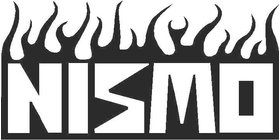 NISMO Classic Up Flames Decal / Sticker