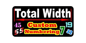 z Custom Numbering Decal / Sticker