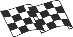 Checkered Flag Decal / Sticker 70