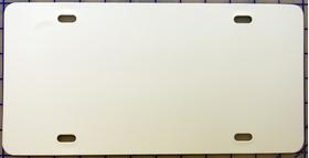 zz Plastic White Blank License Plate