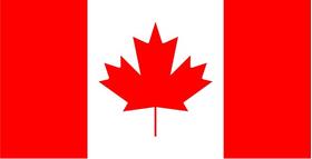 Canada Flag Decal / Sticker 05