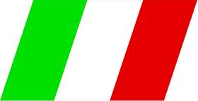 Italian Flag Decal / Sticker 07