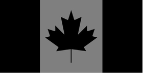 Black and Gray Canadian Flag Decal / Sticker 08