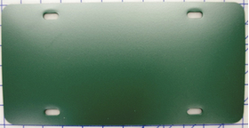 zz Plastic Green Blank License Plate