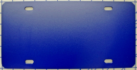 zz Plastic Royal Blue Blank License Plate